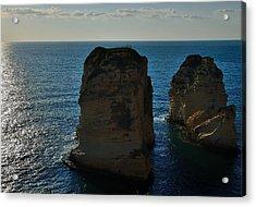 Beirut Pigeon Rocks Acrylic Print