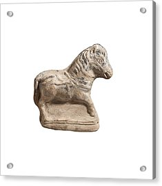 Beit Natif Type Horse Figurine Acrylic Print by Science Photo Library