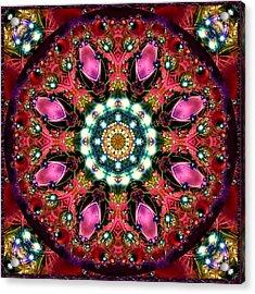 Acrylic Print featuring the digital art Bejewelled Mandala No 1 by Charmaine Zoe