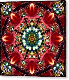 Acrylic Print featuring the digital art Bejewelled Mandala No 2 by Charmaine Zoe