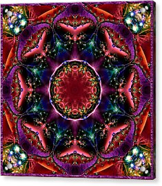 Acrylic Print featuring the digital art Bejewelled Mandala No 3 by Charmaine Zoe
