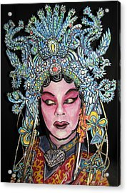 Bejing Opera Face Acrylic Print by James Kuhn