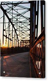 Belford Bridge At Sunset Acrylic Print