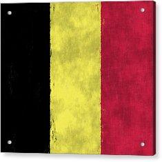 Belgium Flag Acrylic Print by World Art Prints And Designs