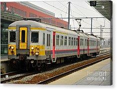 Belgium Railways Commuter Train At Brugge Railway Station Acrylic Print