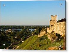 Belgrade Panoramic View Toward Danube River Acrylic Print by Kiril Stanchev