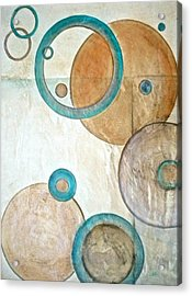 Belief In Circles Acrylic Print by Debi Starr