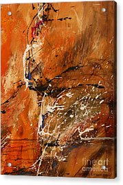 Believe In Dreams - Abstract Art Acrylic Print by Ismeta Gruenwald