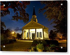 Belin Memorial Umc After Dark Acrylic Print