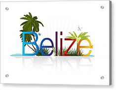 Belize Acrylic Print by Aged Pixel