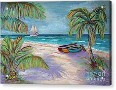 Belize Beach Acrylic Print by Jeanne Forsythe