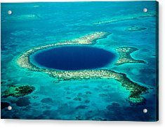 Belize Blue Hole Acrylic Print