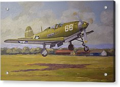 Acrylic Print featuring the painting Bell Airacobra by Murray McLeod
