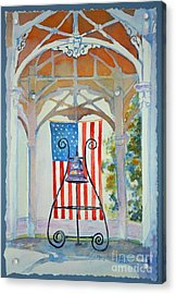 Bell And Flag Acrylic Print