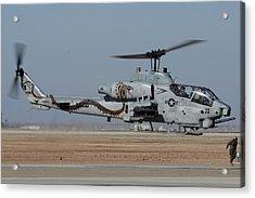Bell-boeing Ah-1w Cobra Buno 165369 Naf El Centro February 19 2015 Acrylic Print
