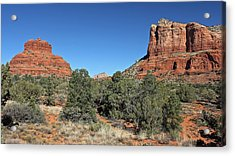 Acrylic Print featuring the photograph Bell Rock And Courthouse Butte by Penny Meyers