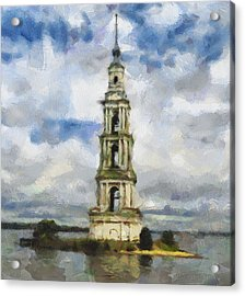 Bell Tower On Island Acrylic Print