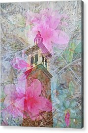 Bell Tower Wrapped In Spring Acrylic Print