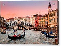 La Bella Canal Grande Acrylic Print by Inge Johnsson