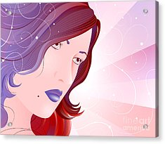 Bella Donna I Acrylic Print by Sandra Hoefer