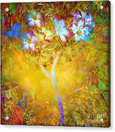 Bella Flora-tropicala Acrylic Print by Darla Wood
