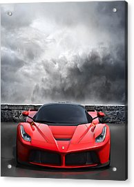 Bella Rosso Acrylic Print by Peter Chilelli