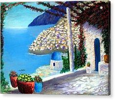 Bella Vista Di Amalfi Acrylic Print by Larry Cirigliano