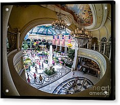 Bellagio Conservatory And Botanical Gardens Acrylic Print by Edward Fielding