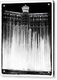 Bellagio Fountains I Acrylic Print by John Rizzuto