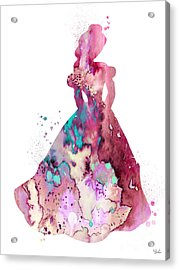 Belle Acrylic Print by Watercolor Girl