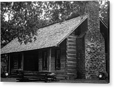 Acrylic Print featuring the photograph Belle Meade Log Cabin by Robert Hebert