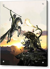 Bellephron Slays Chimera Acrylic Print