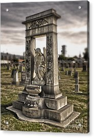 Bellevue Cemetery Crypt - 01 Acrylic Print by Gregory Dyer