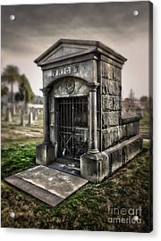 Bellevue Cemetery Crypt - 03 Acrylic Print by Gregory Dyer