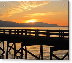 Acrylic Print featuring the photograph Bellingham Bay Boardwalk by Karen Molenaar Terrell