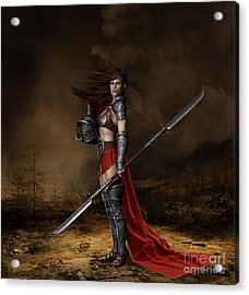 Bellona Goddess Of War Acrylic Print by Shanina Conway