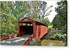 Bells Mills Covered Bridge Acrylic Print
