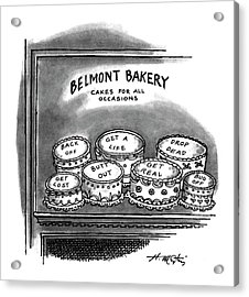 Belmont Bakery Cakes For All Occasions Acrylic Print by Henry Martin