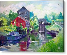 Acrylic Print featuring the painting Belmont Co Offaly Ireland by Paul Weerasekera