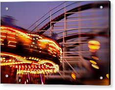 Did I Dream It Belmont Park Rollercoaster Acrylic Print