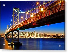 Below The Bay Bridge And San Francisco Skyline Acrylic Print