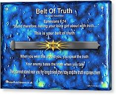Belt Of Truth Acrylic Print