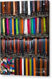 Belts Galore Acrylic Print by Inge Johnsson