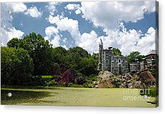Belvedere Castle Turtle Pond Central Park Acrylic Print by Amy Cicconi