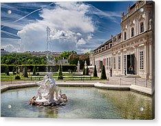 Belvedere Fountains Acrylic Print by Viacheslav Savitskiy