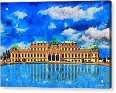 Belvedere Palace Acrylic Print by George Rossidis