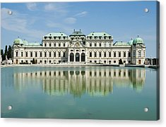 Acrylic Print featuring the photograph Belvedere Palace by Jeremy Voisey