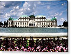 Acrylic Print featuring the photograph Belvedere Palace by Joe  Ng