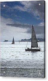 Bembridge Pier From Gosport Acrylic Print by Terri Waters