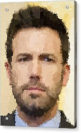 Ben Affleck Portrait Acrylic Print